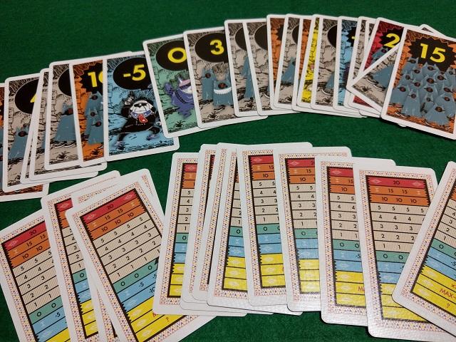 ボードゲーム「コヨーテ」のナンバーカード